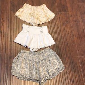 Bundle of 3 Shorts skort size small
